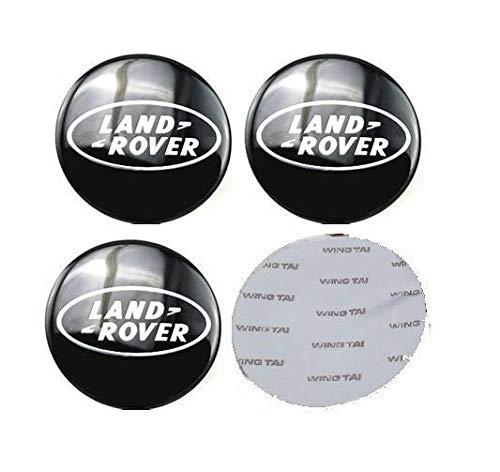 6,35 cm Land Rover Negro Logo Rueda Centro calcoman/ías Emblema Insignia Rueda Hub Tapas Centro Cubierta para Range Land Rover Discovery Sport Velar Evoke 13 Autosupply 4 x 65 mm