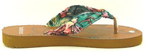 Womens Multi Kleur Jelly Flip Flop Thong Sandaal Strand Slipper Equa Schoen Roze