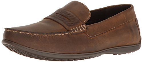 Rockport Mens Bayley Penny Driving Style Loafer Camel Leather