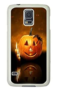 Unique Painting Samsung Galaxy S5 Case and Cover -Happy Halloween 8 PC Hard Plastic Case for Samsung S5/Samsung Galaxy S5 Whtie