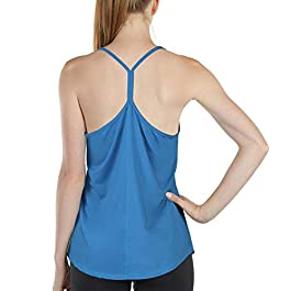 icyzone Workout Tank Tops for Women – Athletic Exercise Yoga Tops Open Back Strappy Running Shirts