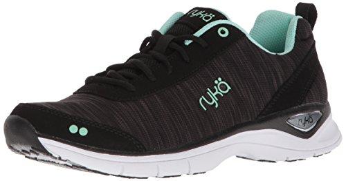 Ryka Women's Rayne Walking Shoe, Black/Mint, 9 M (Womens Walking Shoes)