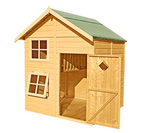 Shire Croft Double Storey Wooden Playhouse, Brown, 167x160x230 cm
