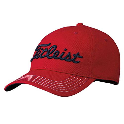 (Titleist Contrast Stitch Golf Cap RED/Black ONE Size FITS All)