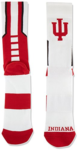 Donegal Bay NCAA Indiana Hoosiers Sport Socks, White, One Size