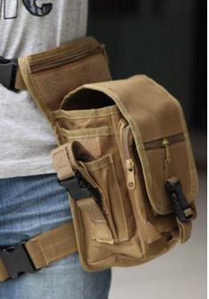 9366e29a861c Tactical Tan Drop Leg Thigh Waterproof Waist Pack Bag   Camping Hiking  Sport Hunting Backpacks Rucksacks Black Brown Green White Backpacking  Military Army ...