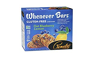 Pamela's Products Gluten Free Whenever Bars, Blueberry Lemon, 7.05 Ounce