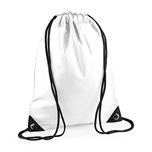 White Colours Strap Retro Unisex Pocket bag BagBase Zipped shoulder B1PffZ