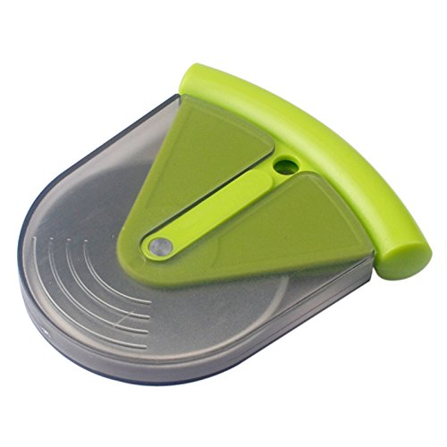 Pizza Cutter,  Pizza Cutter Blade Wheel, Handheld Rolling Pizza Wheel Stainless Steel Ultra Sharp Slicer with Detachable Blade Cover, Portable Durable Easy Grip Rolling Handheld for Home, Pizza Lovers, Kitchen Tool (Green)