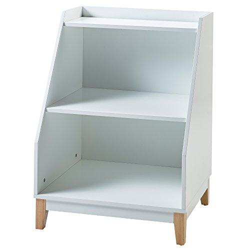 Versanora VNF-00003 Space Saver Modern & Stylish Pulire Storage Stand White/Natural