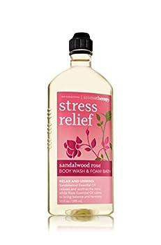 Bath & Body Works Aromatherapy Sandalwood Rose Stress Relief Body Wash and Foam Bath 10 fl oz (295 ml)
