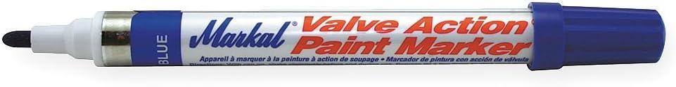 Markal 96825 Valve Action Paint Marker, Blue