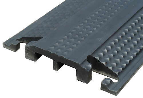 2-Channel Medium Duty Rubber Drop Cover Protector (channel height 1'', channel width 1.75'') by Kable Kontrol