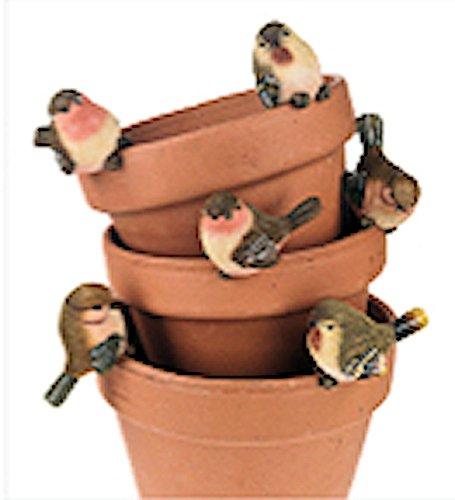 Planter Pot Perchers Birds Set (Bird Planter)