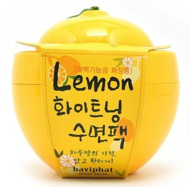 KOREAN COSMETICS, Baviphat_ Lemon whitening sleeping pack (100g, nutrition, moisturizing)[001KR]