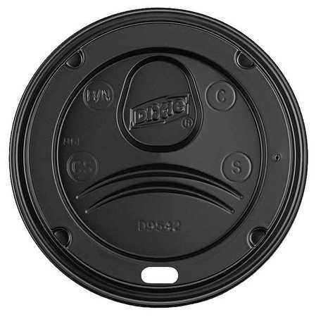 Large Product Image of Dixie D9542B Dome Lid for 10-16 oz PerfecTouch Cups and 12-20 oz Paper Hot Cups, Black, 50 Lids per Pack
