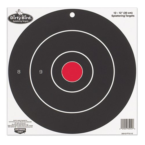 Birchwood Casey Bulls Eye Dirty Bird Splattering Paper Targets (Per 100), 12-Inch Dirty Bird Splattering Targets