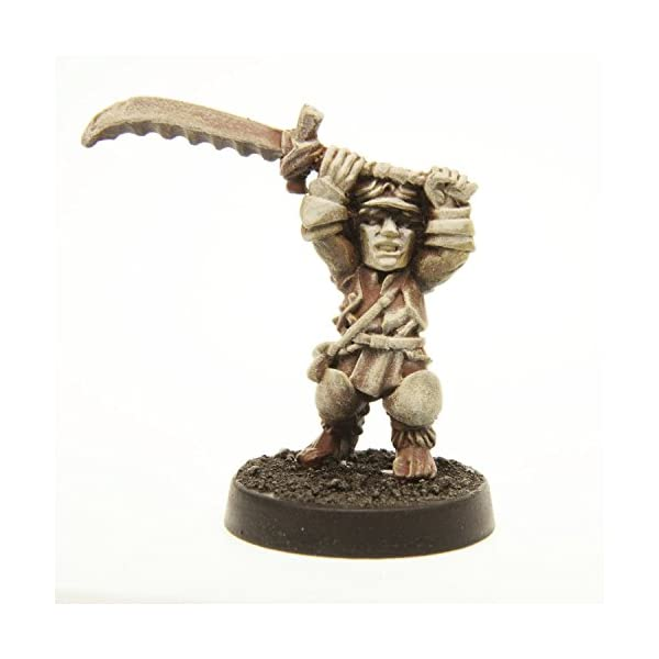 Stonehaven Halfling Barbarian Miniature Figure (for 28mm Scale Table Top War Games) - Made in USA 5