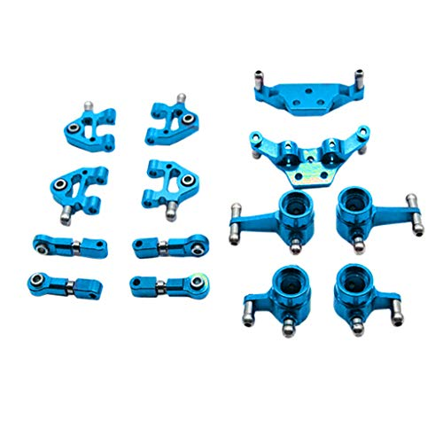 Livoty RC Car Accessories Parts Metal Full Set Upgrade for 1/28 Wltoys P929 P939 K979 K989 K999 k969 RC Car Parts (Blue) ()