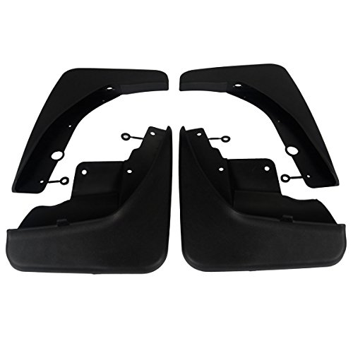 (Set of 4 Front and Rear Mud Flaps Splash Guards for Jeep Grand Cherokee WK2 Series 2011-2016)