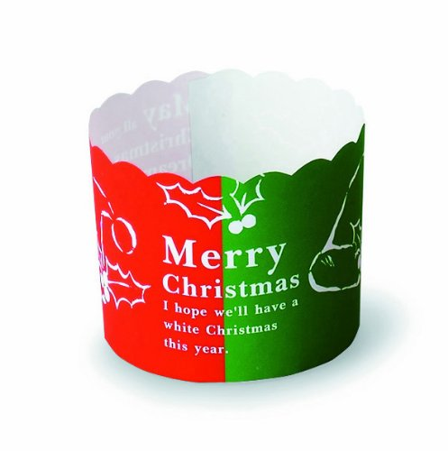 Welcome Home Brands Merry Christmas Baking Cups, 2.6-Inch Diameter by 2-Inch Height, One Case of 500 Units by Welcome Home Brands