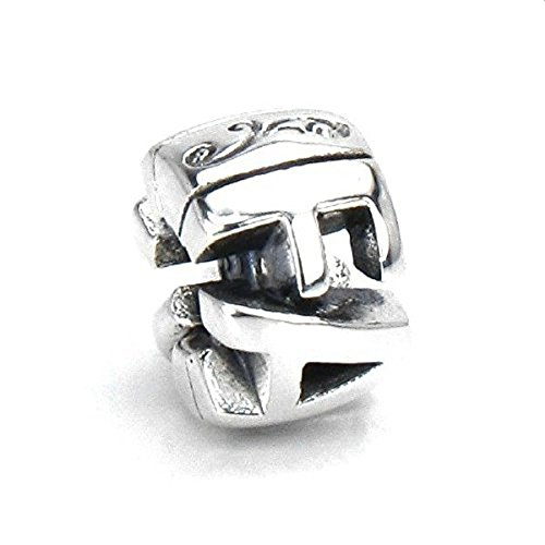BELLA FASCINI FAITH with INFINITY CROSS European Bead Charm Sterling Silver Fits Compatible Bracelets