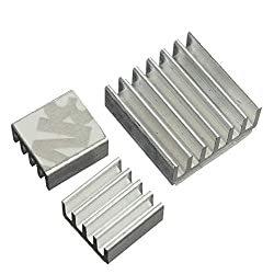 Nrthtri smt 3pcs Aluminum Adhesive Heat Sink Cooler Kit for Cooling Raspberry Pi Board