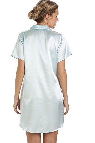 83fbb7c5b96f93 Camille Luxuriöses Satin-Nachthemd - Knielang im Hemd-Stil - Mintgrün:  Camille: Amazon.de: Bekleidung
