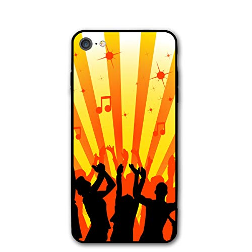 Silhouette Zumba Dance Gold Black iPhone 7 8 Phone Case Cover Theme Decorative Mobile Accessories Ultra Thin Lightweight Shell Pattern Printed
