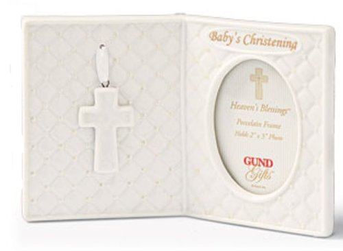 Gund Baby - Heaven's Blessings Porcelain Christening Frame - 2