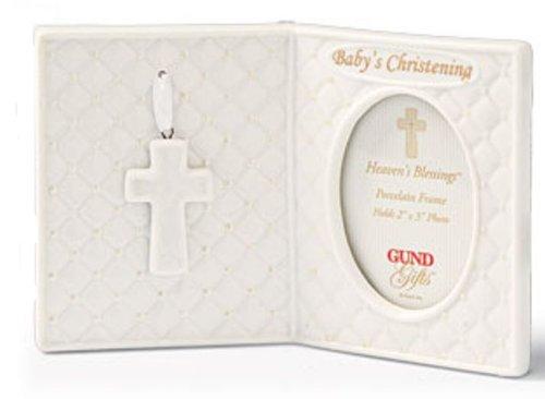 Gund Baby - Heaven's Blessings Porcelain Christening Frame - 2