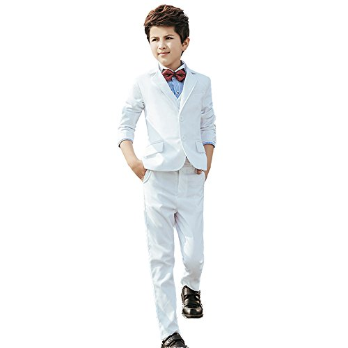 Yanlu 5 Piece Formal White Slim Fit Boy's
