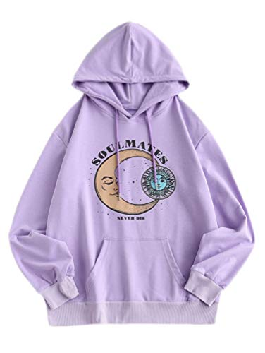 Nicetage Womens Graphic Hoodie Tie Dye Sweatshirt Long Sleeve Casual Lightweight Hooded Pullover Tops with Pockets