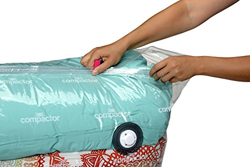 Compactor Space Saver Vacuum Storage Solution Vacuum Bag to Protect Clothes, Pillows, Duvets, Comforters, Blankets (XXL (26''x20''x11''), Classic White) by Compactor (Image #8)