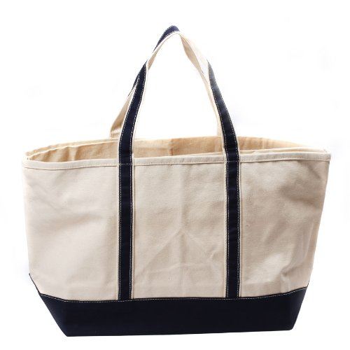 CB Station – Boat Tote Large- BLACK Canvas Bag, Bags Central