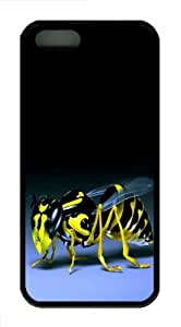 3D bee TPU Case Cover for iPhone 5 and iPhone 5s ?¡ìC Black