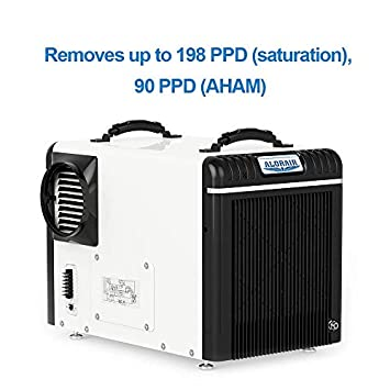 AlorAir Basement Crawlspace Dehumidifiers 198PPD Saturation , 90 Pints AHAM , 5 Years Warranty, Condensate Pump, HGV Defrosting, Epoxy Coating, Remote Monitoring