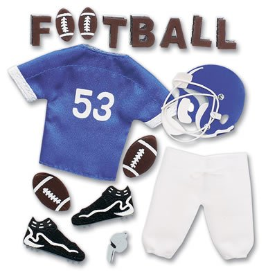 Jolee's Boutique Pep Rally Themed Ornate Stickers (Football) Blue