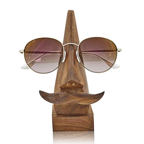 Fun Birthday Gift Ideas Handcrafted Movember Rosewood Reading Glasses Stand Spectacle Stand or Eye Glass Holder Wooden Tabeltop Display Stand 6 Inches Anniversary Housewarming Gift Ideas (Design 2) Art Deco Rosewood Table