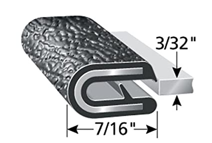 """and More Push-On Edge Guard for Cars Boats 7//16/"""" Leg Length Machinery Flexible Fits 1//16/"""" Edge 250/&rsq Easy Install Trim-Lok Edge Trim Dual Gripping Fingers PVC Plastic Edge Protector for Sharp and Rough Surfaces"""