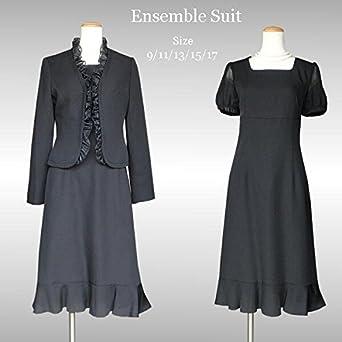 6f8286ce9fb33 (アンジェリカ)Angelica マーメイドラインアンサンブルスーツ ブラックフォーマル・冠婚葬祭 7号