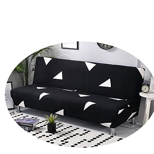 Universal Sofa Bed Cover Stretch Couch Cover Sofa Funiture Sofa Cover Without Armrest Folding Cover for Sofa Bed 160-190Cm 1PC Color 5 Cushion Cover 2pcs