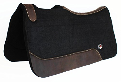 CHALLENGER 1″ Thick Western Horse Contour Wool Felt Therapeutic Saddle PAD 30″X30″ 3981BK2