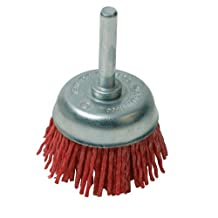 75mm Non-Sparking Filament Cup Brush - Nylon Threads/Abrasive Grit - For Drill