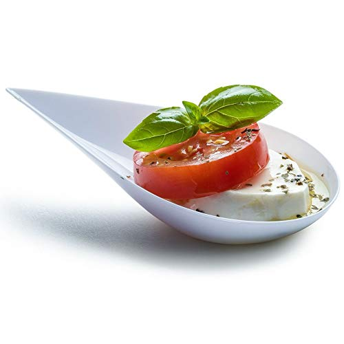 DLux 100 4-in Tear Drop Mini Appetizer Plates,