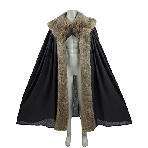Cosparts Jon Snow Knights Watch Men's Halloween Cosplay Costume Cape Outfit (L, Cape (Jon Snow Cape Costume)