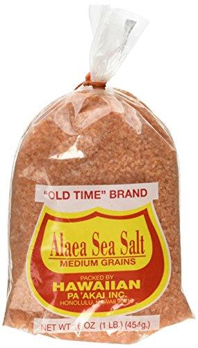 Hawaiian Pa'Akai Inc, Alaea Sea Salt Medium Grains, 16 oz