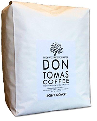 New 2017 Harvest. 5 LB Light Roast Coffee Beans Don Tomas Nicaraguan Coffee - Rainforest Alliance Certified Farm