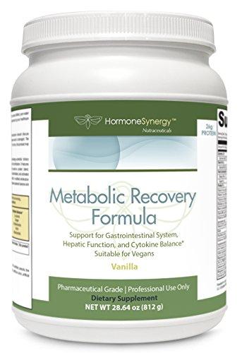 Metabolic Recovery Formula Vanilla | Gastrointestinal, Hepatic and Intestinal (GHI) Support* | 26g Vegan Protein | Non-Gmo Pea/Rice | MeadowPure, Aminogen® & Quatrefolic® | FREE eBook For Sale