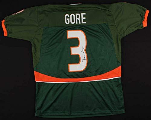 Frank Gore Autographed Signed Autograph Miami Hurricane Jersey JSA Authentic 5 Pro Bowl 2006 20092011 2013 ()